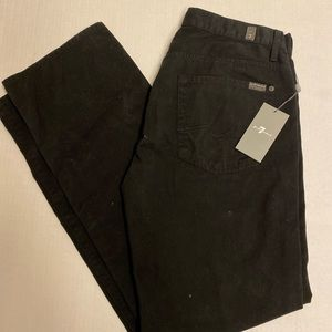 Men's Seven For all Mankind Black Jeans size 34